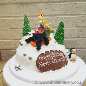 Snowy Winter Cake